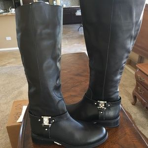 Black Vince Camuto Tall Boots Size 5